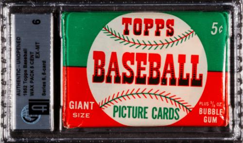 1952 Topps baseball cards unopened
