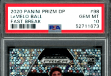 lamelo ball rookie card prizm