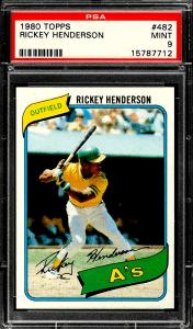Rickey Henderson Topps Rookie Card