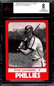 Ryne Sandberg Reading rookie card