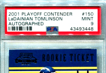LaDainian Tomlinson rookie card