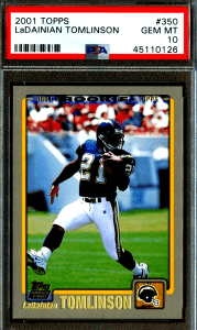 LaDainian Tomlinson topps rookie card