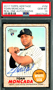 Yoan Moncada Topps Heritage Real One Rookie Card