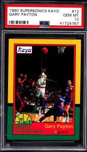 1990 Gary Payton Supersonics Kayo rookie card