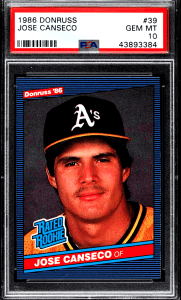 junk wax era Jose Canseco Rookie Card