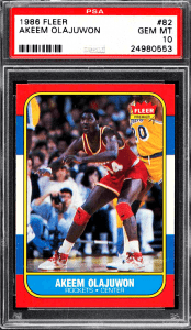 Hakeem Olajuwon Fleer Rookie Card