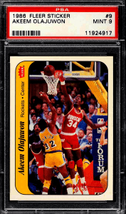 Hakeem Olajuwon Fleer Stickers Rookie Card