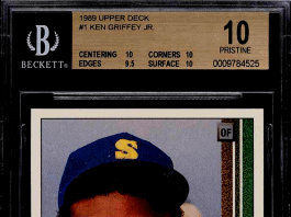 1989 ken griffey jr upper deck