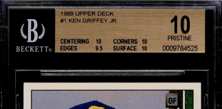 1989 ken griffey jr upper deck