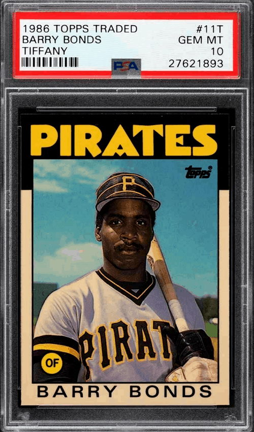 barry bonds topps trade tiffany rookie card