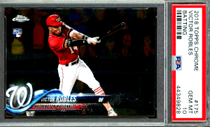 Victor Robles Topps Chrome rookie card