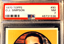 OJ Simpson Rookie Card topps