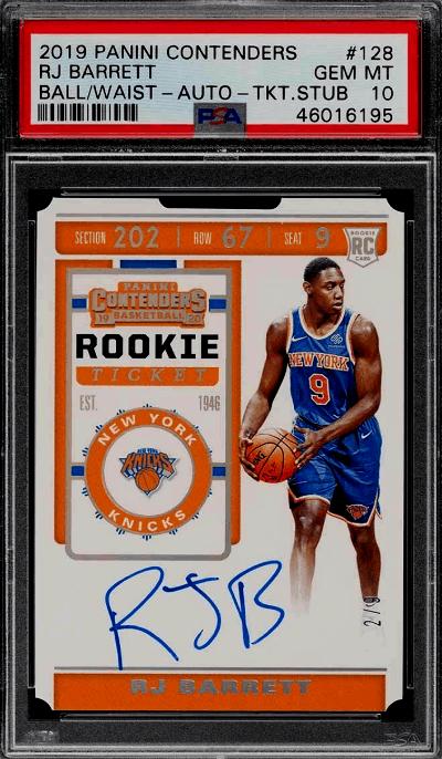 RJ Barret Rookie Card Value