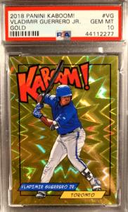 2018 Kaboom Gold /10 Vladimir Guerrero Jr ROOKIE CARD