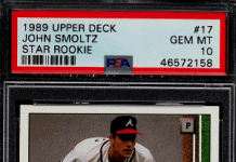 john smoltz rookie card upper deck