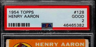 most expensive topps card Hank Aaron baseball card