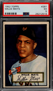 willie mays 1952 most valuable topps baseball card
