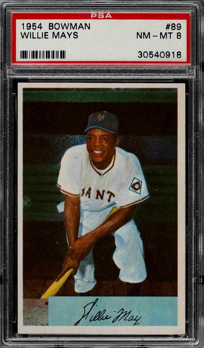 1954 willie mays baseball card