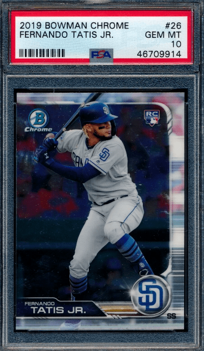 top baseball cards from 2019