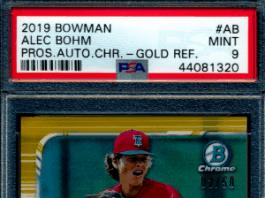 Alex Bohm rookie cards