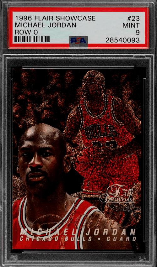 1996 Michael Jordan Flair Showcase Legacy Collection Row 0