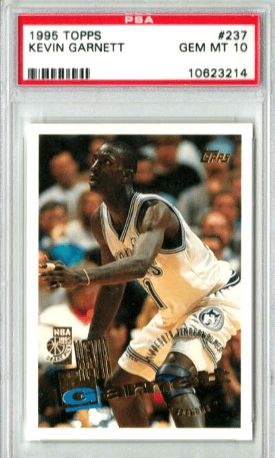 Kevin Garnett Topps Rookie Card