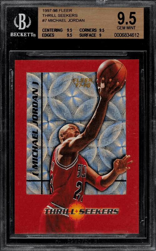 1997 Michael Jordan Fleer Thrill Seekers