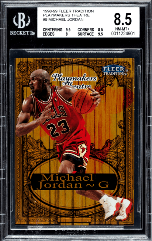 1998 Michael Jordan Fleer Tradition Playmakers Theatre basketball card