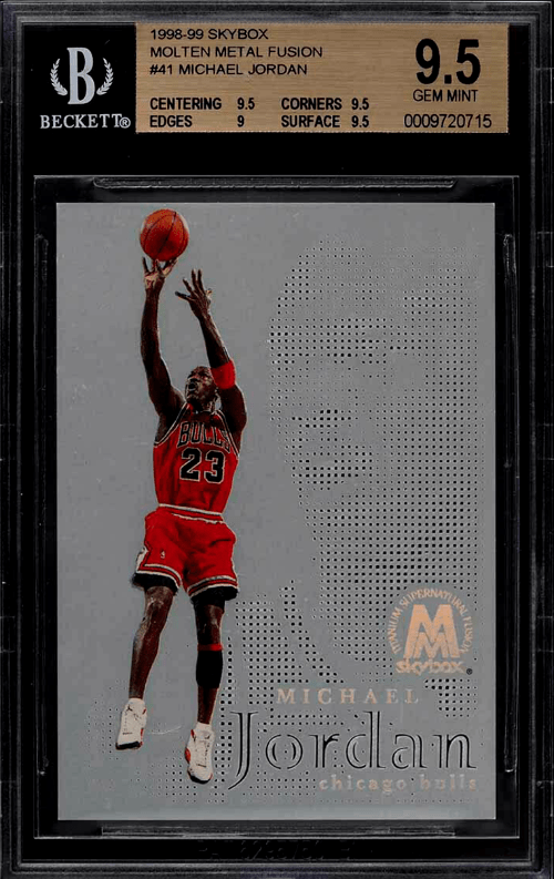 1998 Michael Jordan Skybox Molten Metal Fusion