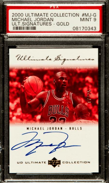 2000 Michael Jordan Ultimate Collection Signatures Gold Autograph