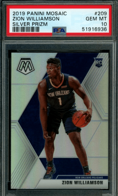 2019-20 Panini Mosaic Silver Prizm #209 Zion Williamson RC Rookie Card