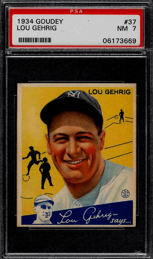 Lou Gehrig baseball card