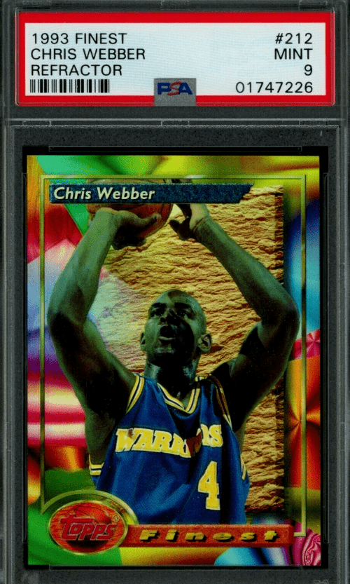 1993 Chris Webber Topps rookie card