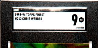 chris webber rookie card
