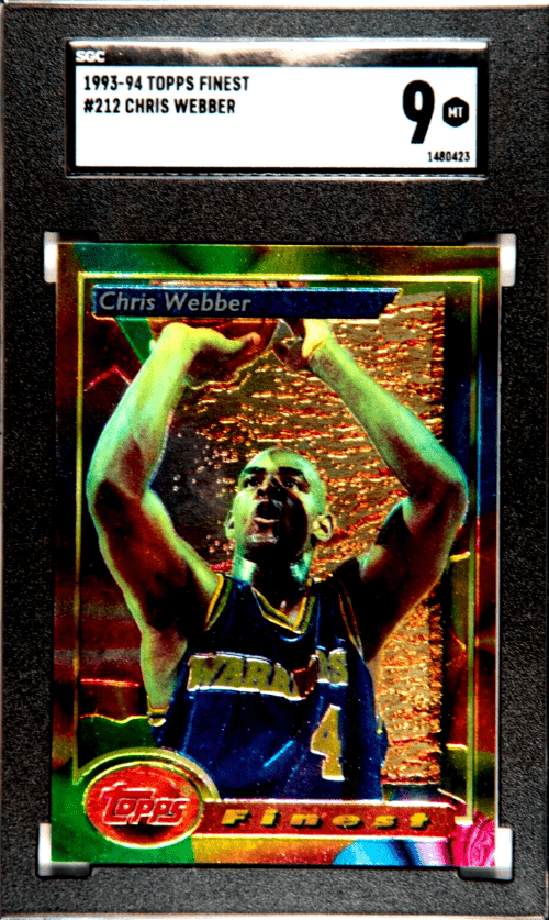 chris webber rookie card topps