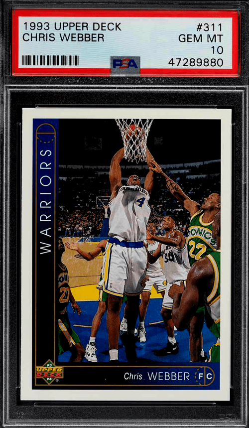 Chris Webber Upper Deck Rookie Card