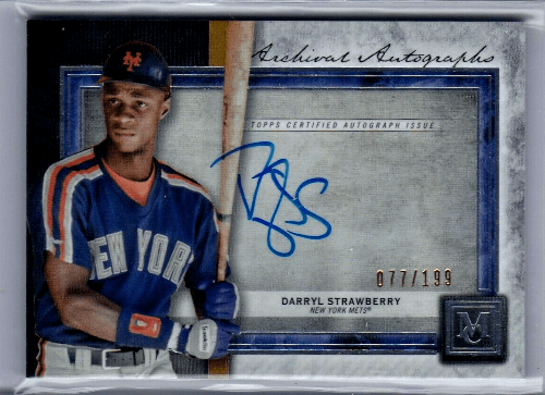 2020 Darryl Strawberry Museum Collection Baseball Card