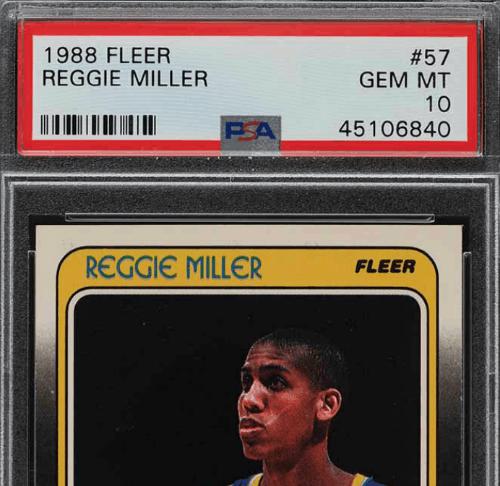 reggie miller rookie card