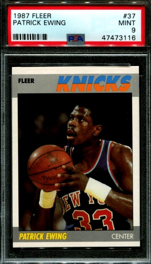 patrick ewing basketball card