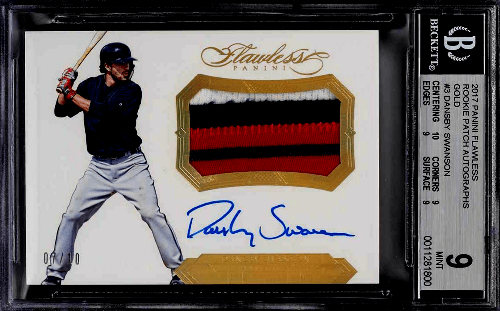 2017 Dansby Swanson Panini Flawless rookie card