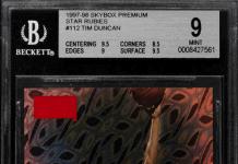 best tim duncan rookie card