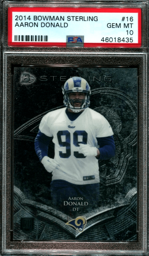 2014 Aaron Donald Bowman Sterling rookie card