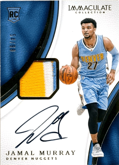 Jamal Murray Immaculate Collection rookie card