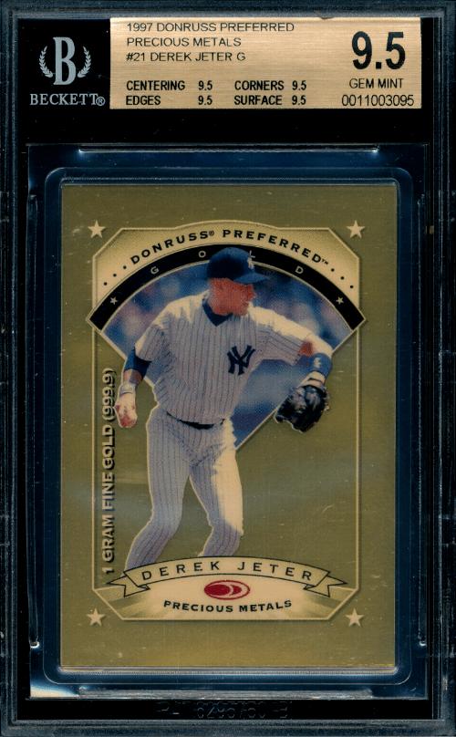 1997 Donruss Preferred Derek Jeter Precious Metals baseball card