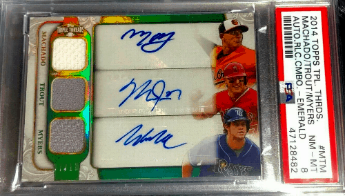 2014 Topps Triple Threads Auto Mike Trout Manny Machado Wil Myers