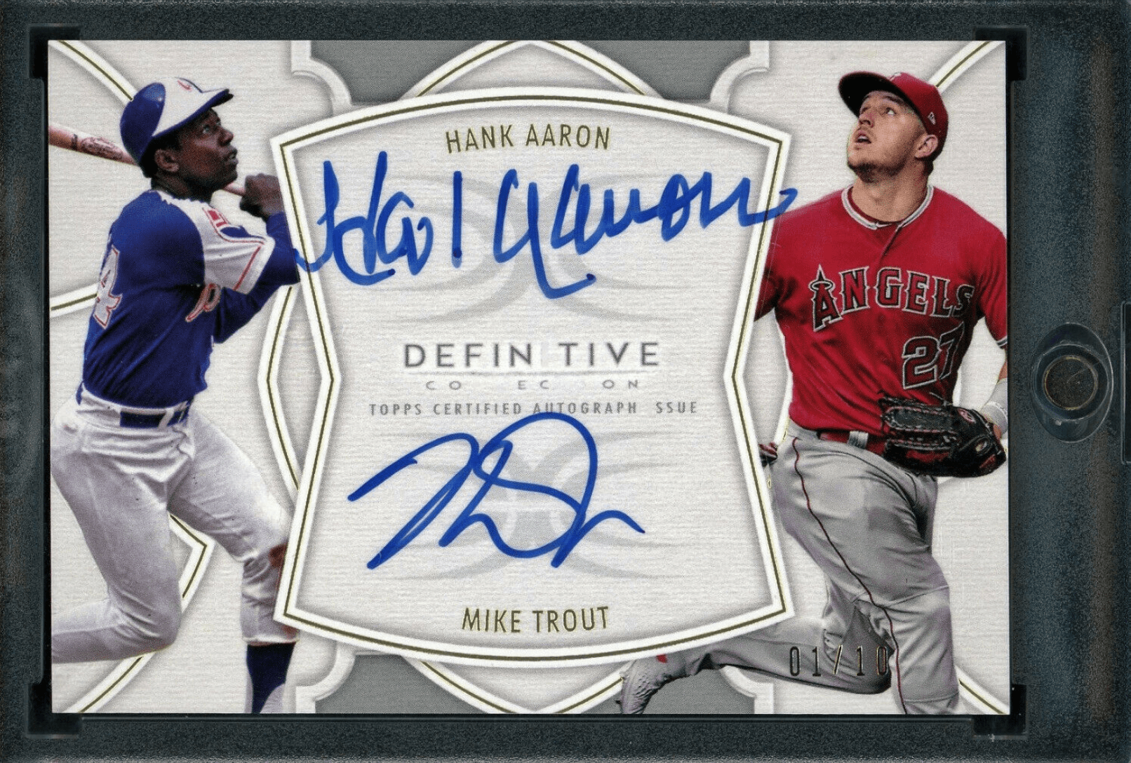 2020 topps mike trout hank aaron baseball cards