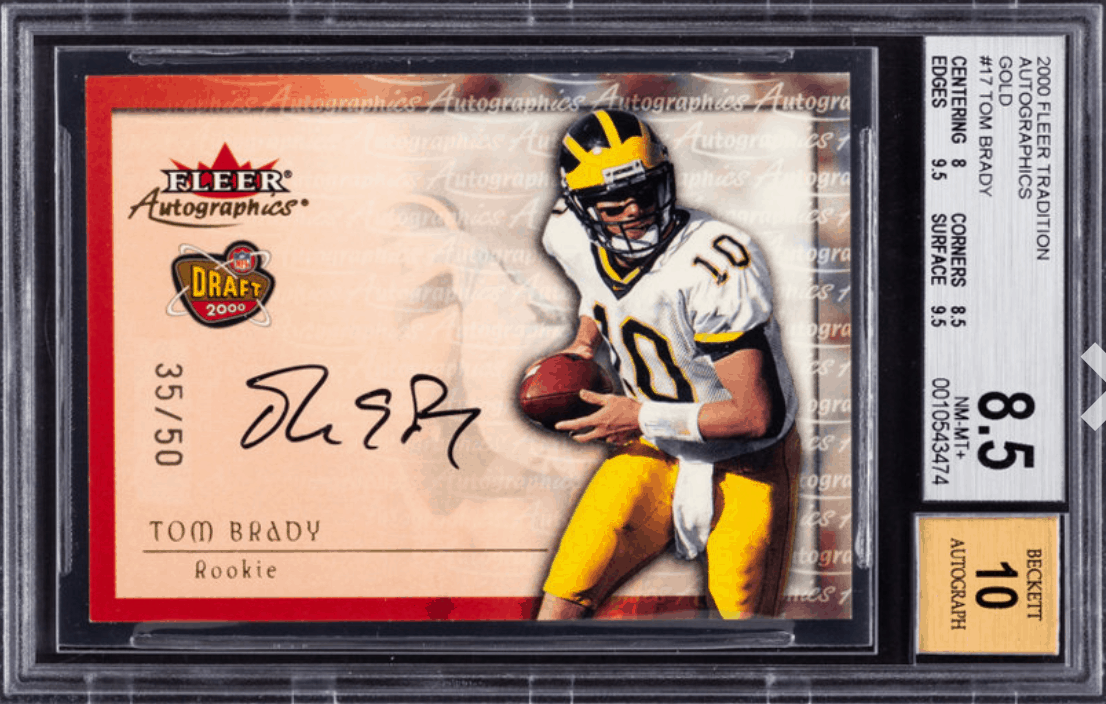 most rare tom brady cards