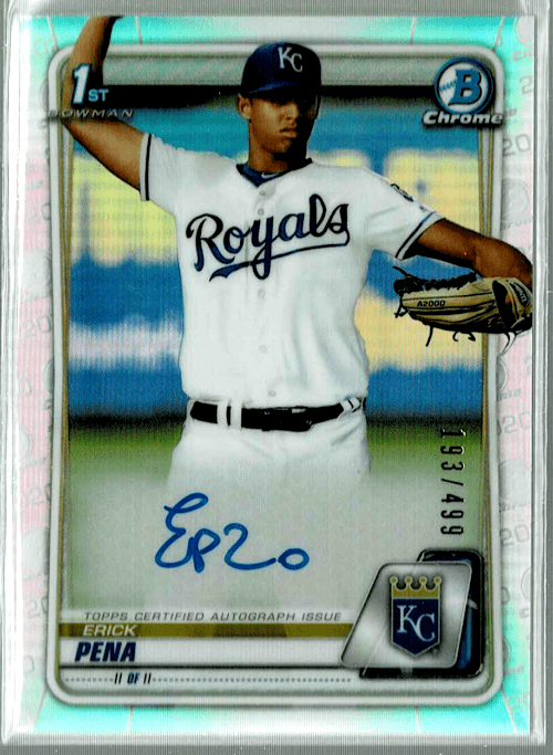 2020 Bowman Chrome Baseball Eric Pena
