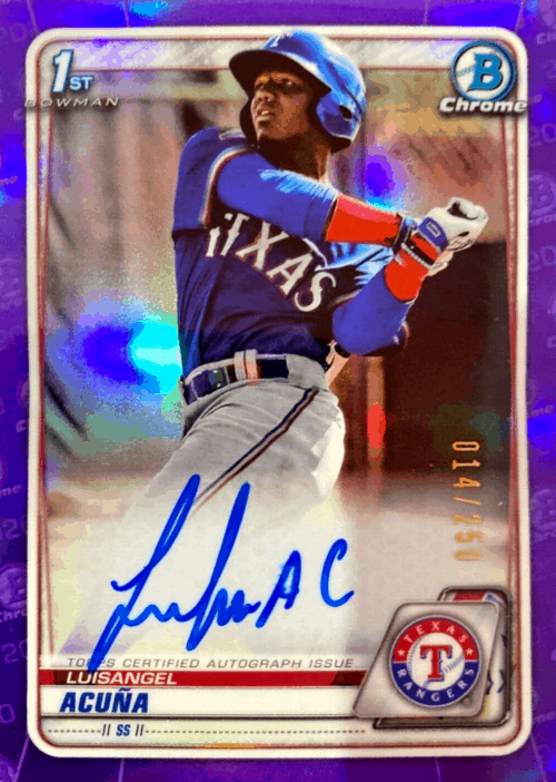 2020 Bowman Chrome Baseball Luisangel Acuna