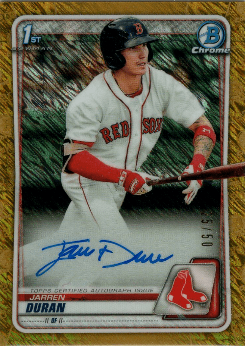 2020 Bowman Chrome Baseball Jarren Duran